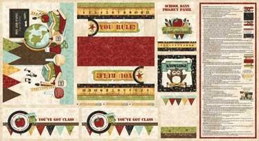Item#8291 - School Days Panel - Kelly Mueller - Red Rooster - Bolt 8291