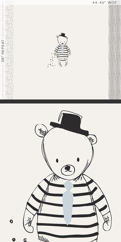 Item#11003.C - Nest - Sir Bear Panel - Art Gallery - Bolt#11003.C