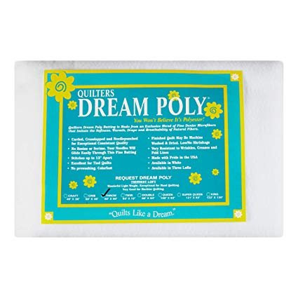 Item#12025.RTH - Quilters Dream Poly Request Throw Size Batting 60x60