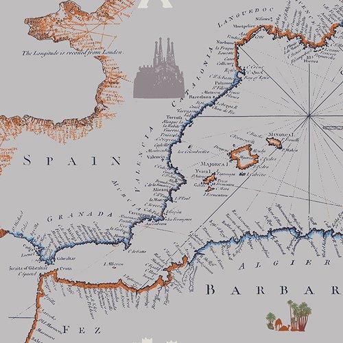 Item#11039.E - Mediterraneo Cartographe - Katarina Roccella - Art Gallery - Bolt#11039.E