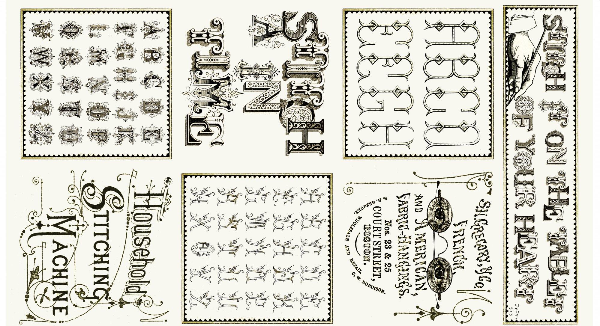 Item#8386 - Letter Stitch - Quilting Treasures - J Wecker Frisch - Bolt# 8386