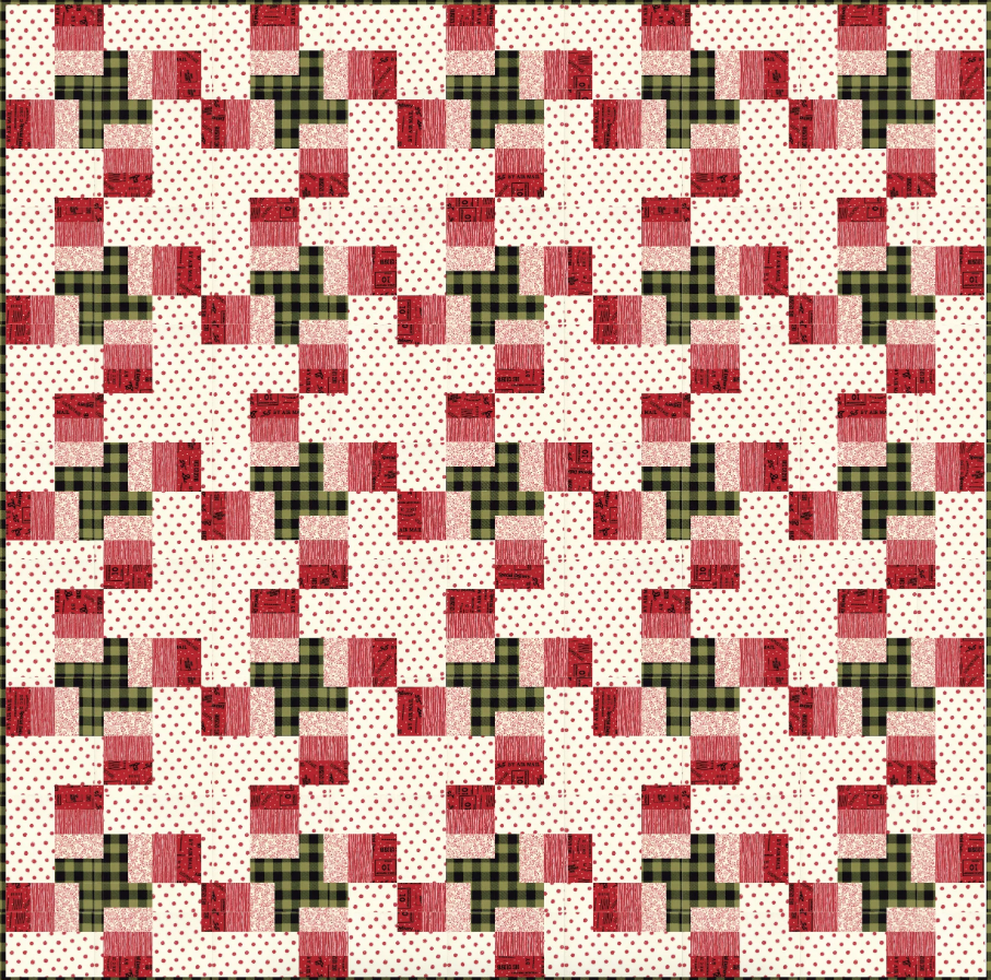 Item#11050.G - Plaid Tidings Kit 80x80 Finished - Includes Fabric for Top and Binding Only