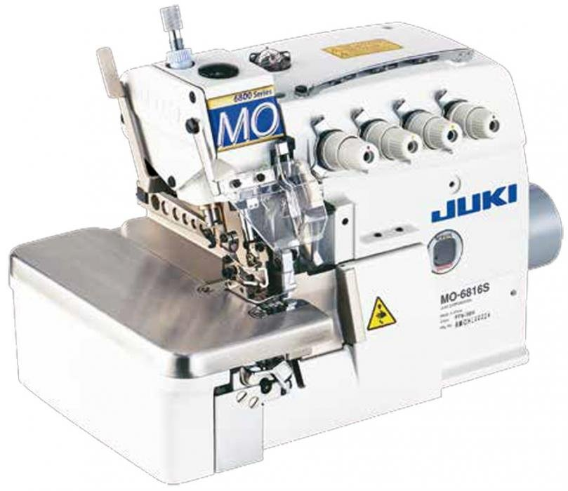 JUKI MO-6814S 4-Thread Overlock Industrial Serger with Table and Servo Motor
