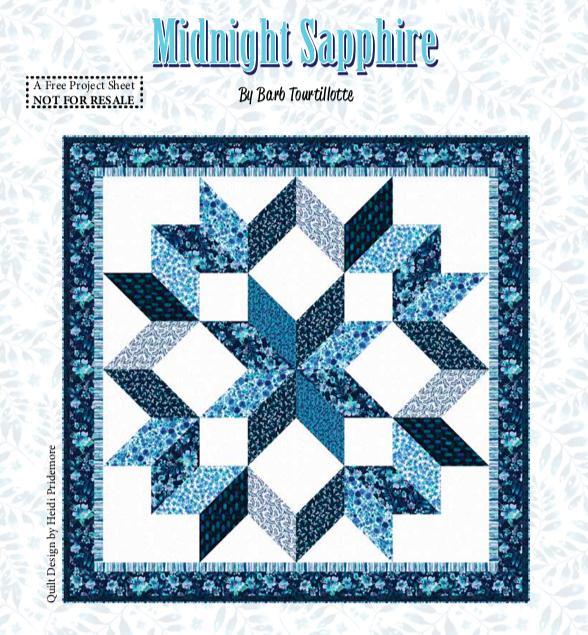 Midnight Sapphire Quilt #2