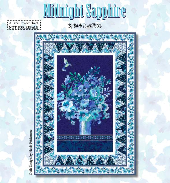 Midnight Sapphire Quilt #1