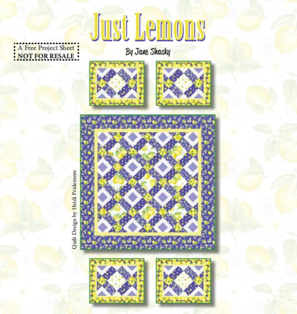Just Lemons Quilt Pattern
