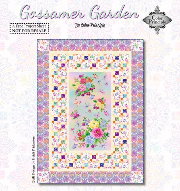 Gossamer Garden Quilt Pattern #1