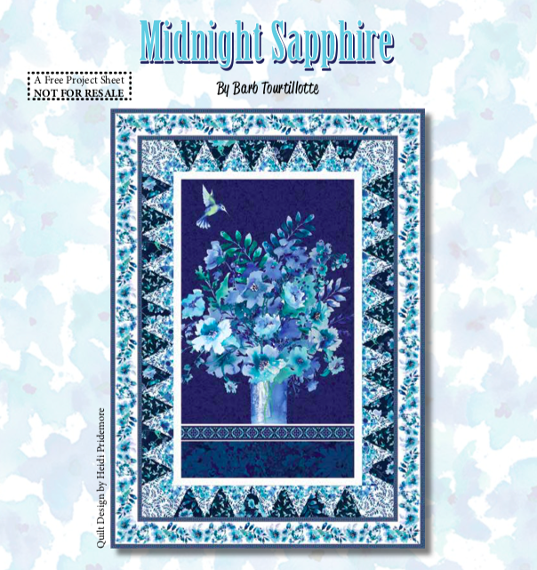 Midnight Sapphire Quilt #1 Fabric Package