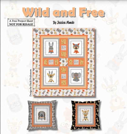 Wild & Free Quilt and Pillow Pattern Kit