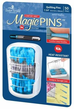 Magic Pins Quilting Pins - 50 Pins 1 3/4 6mm