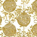 Holiday Village - Gold Ornaments