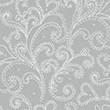 Holiday Village - Silver Scroll w/Metallic