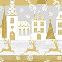 Holiday Village - Gold Holiday Village w/Metallic