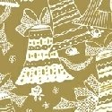 Holiday Village - Gold Bells w/Metallic