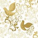 Holiday Village - Gold Song Birds w/Metallic
