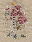 Birdseed Snowman Tea Dye #9