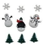 Snowy Friends Button Pack 8pcs