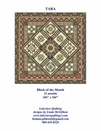 Tara - Block Of The Month Full Pattern Set