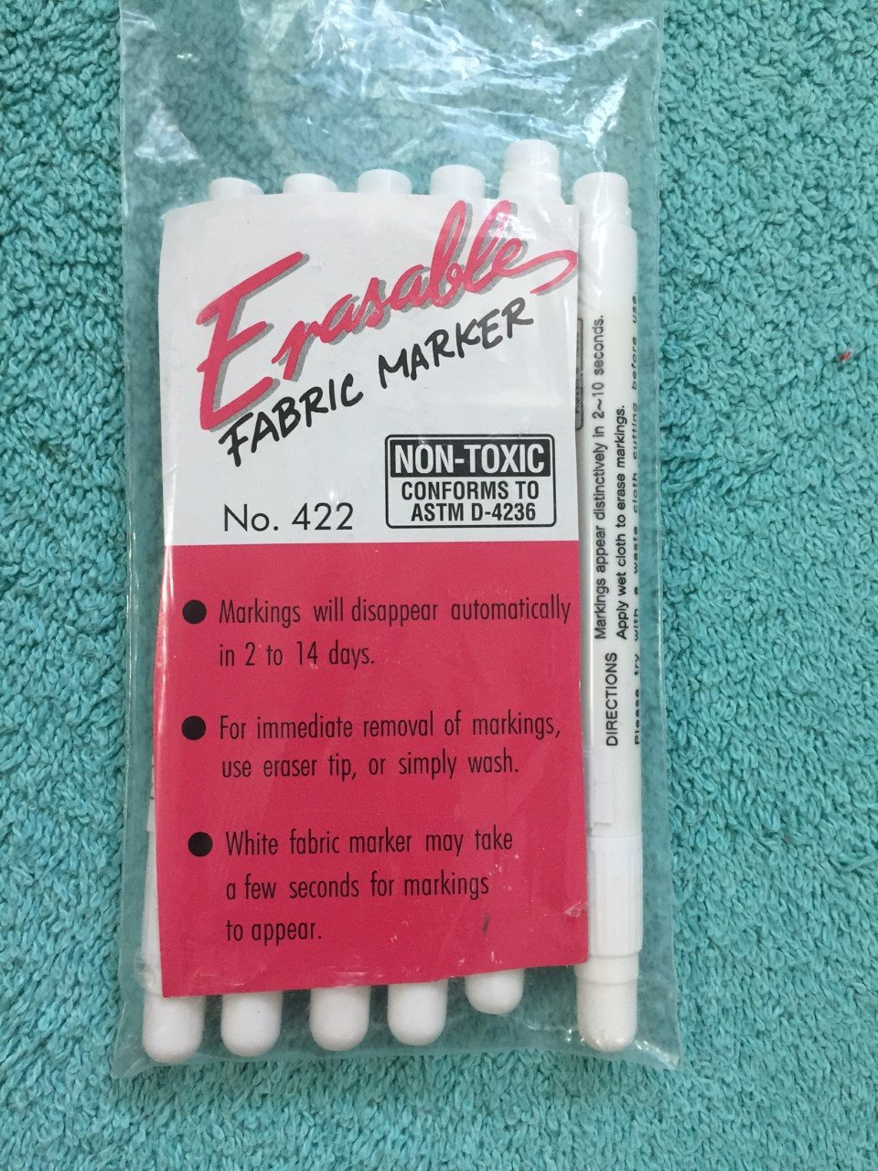 Marvy Erasable White Fabric Marker