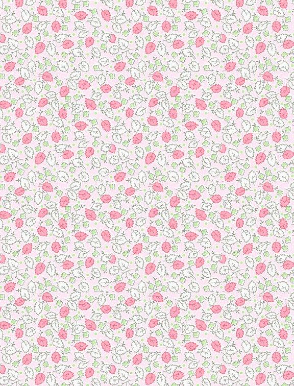 Amorette -  Leaves & Flowers Pink