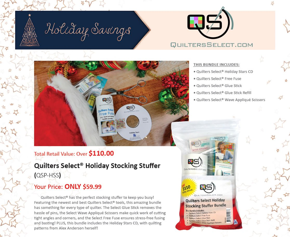 Quilters Select Holiday Stocking Stuffer Bundle