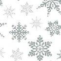 Holiday Village - Silver - Snowflakes w/Metallic