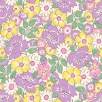 Nana Mae II - Yellow/Lavender Packed Floral 1930's