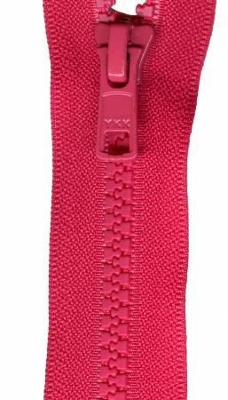 Vislon 1-Way Separating Zipper 24in- Lipstick