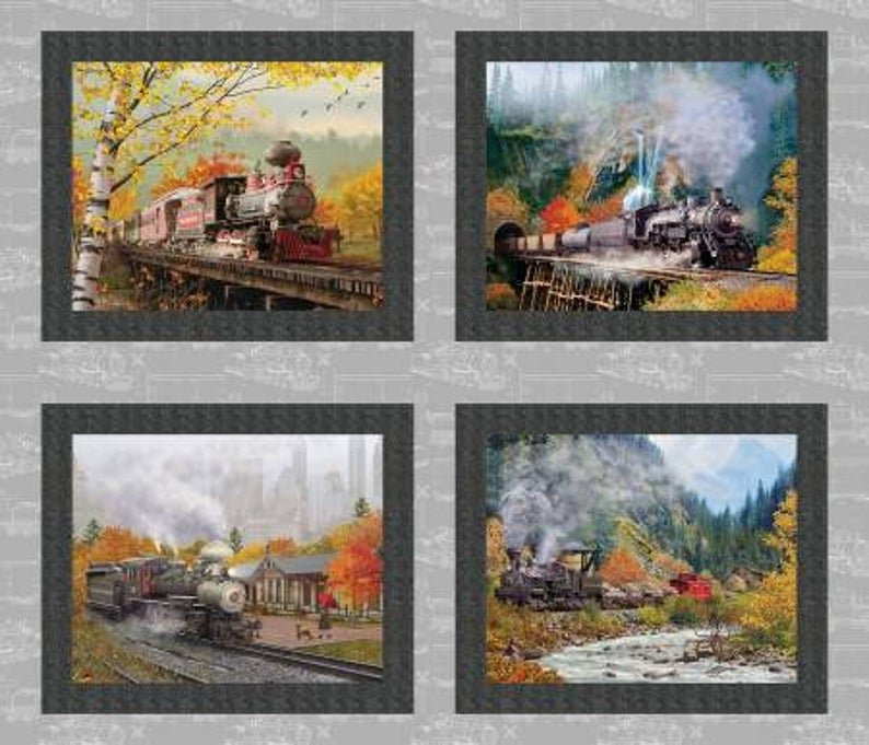 Autumn Steam - 4 Panel - 16587-GRY