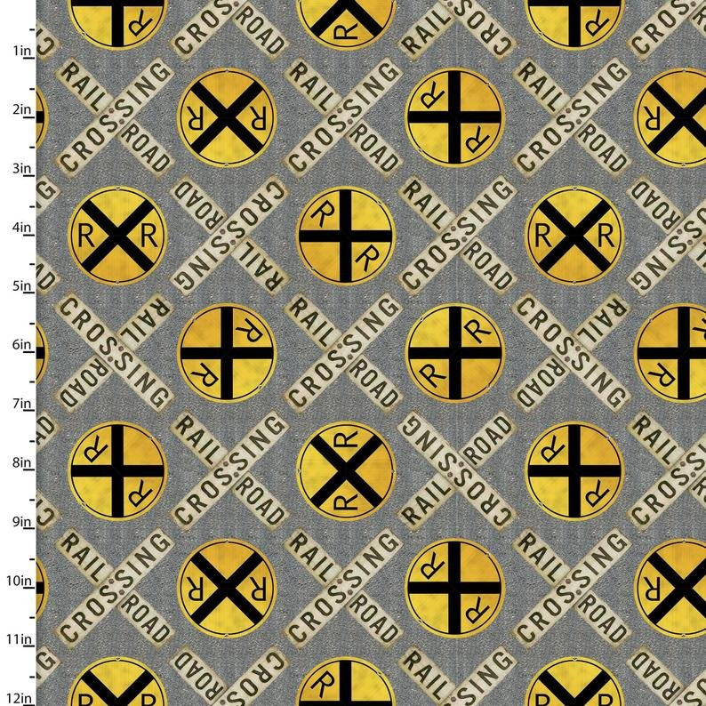 Autumn Steam - RR Crossing - 16591-GRY