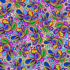 Carnivale - 26372 Z - Packed Paisley - White