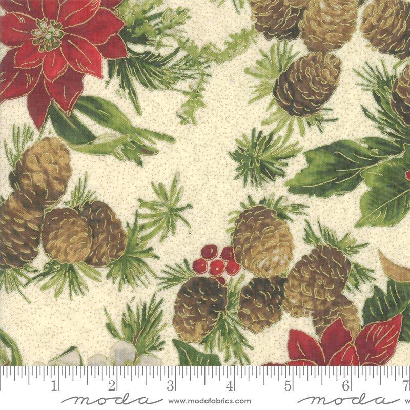 Poinsettia Pine Metallic - Cream 33510 11M