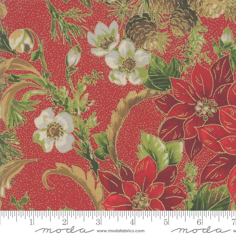 Poinsettia Pine Metallic - Crimson 33510 12M