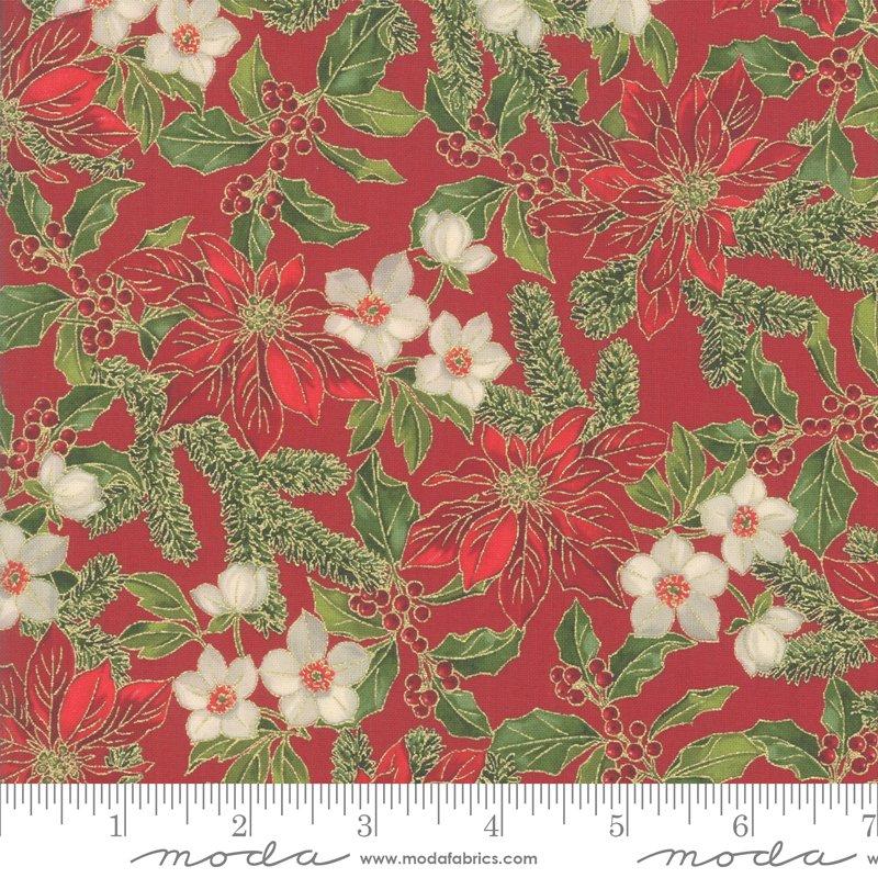 Poinsettia Pine Metallic - Crimson 33511 12M