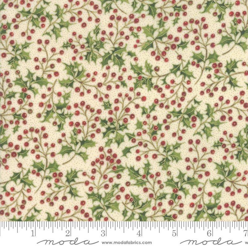 Poinsettia Pine Metallic - Cream 33514 11M
