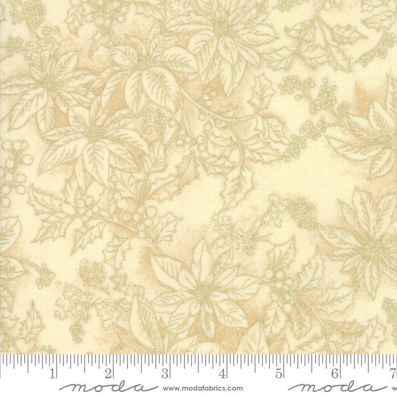 Poinsettia Pine Metallic - Cream 33516 11M