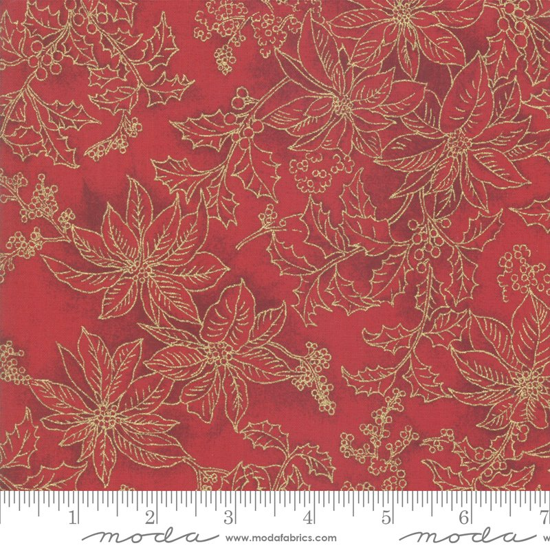 Poinsettia Pine Metallic - Crimson 33516 12M