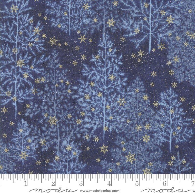 Forest Frost Glitter - Night Sky - Dark Blue - 33520 17MG