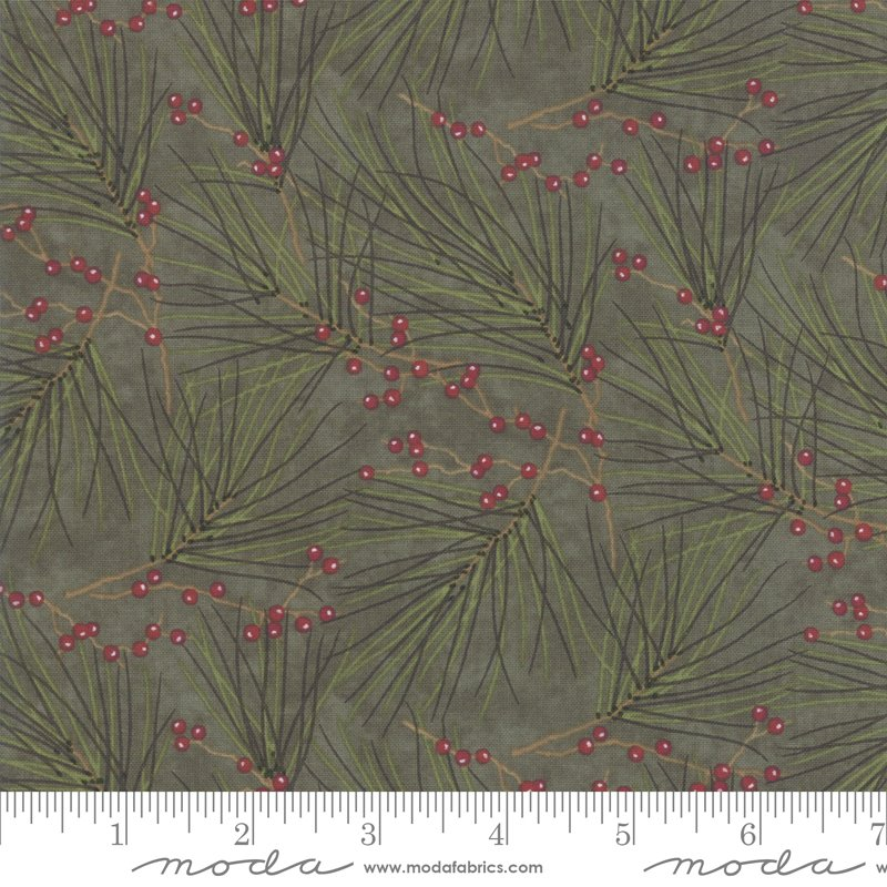Winter White Pine Needles - Dark Green 6812 16