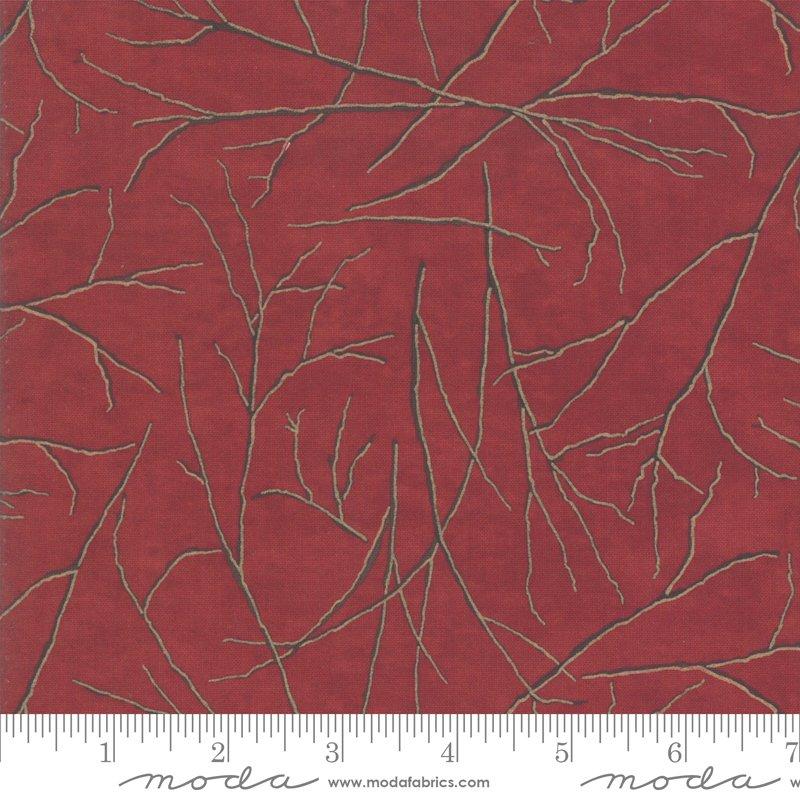 Winter White Branches - Crimson 6813 11