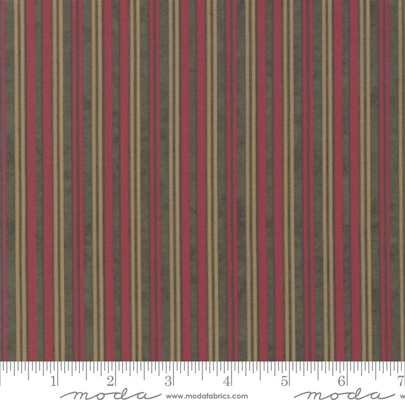 Winter White Stripe - Forest 6816 17