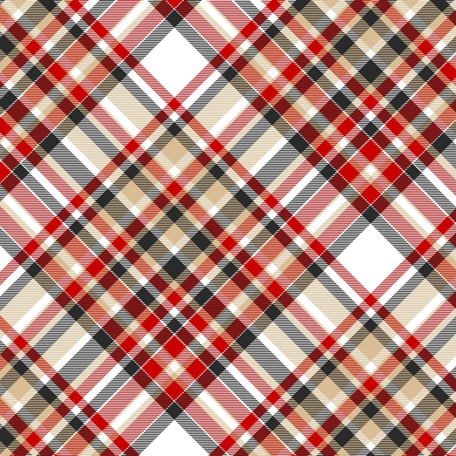 Red/Beige/Black Plaid - 9276 89