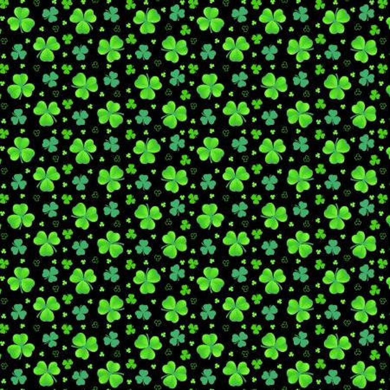 Pot of Gold - 9368 96 -Tossed Clover - Green