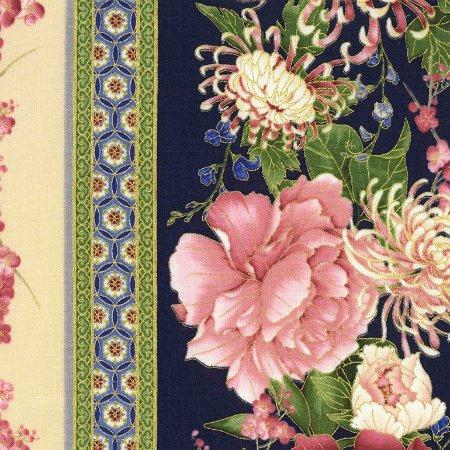 Sakura by Timeless Treasure   CM6157 Blue