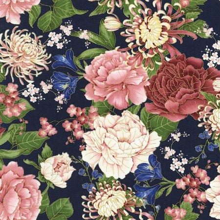 Sakura by Timeless Treasure   CM6158 Blue