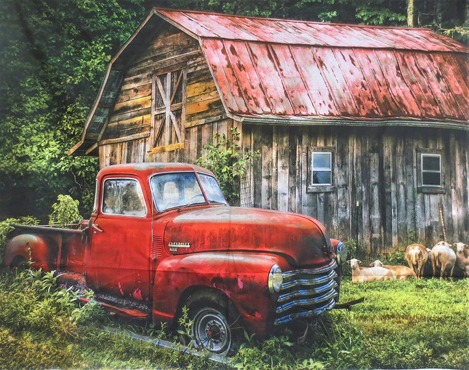 Truck at the Barn - AL 3718 8C