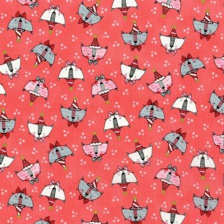 Doodle Pop Pink Birthday Cat Heads 3379