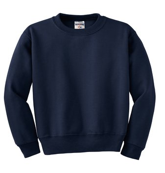 562B Navy Jerzee brand crew sweatshirt youth size XL