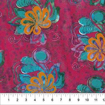 80595 25 FLOWER POWER BATIK