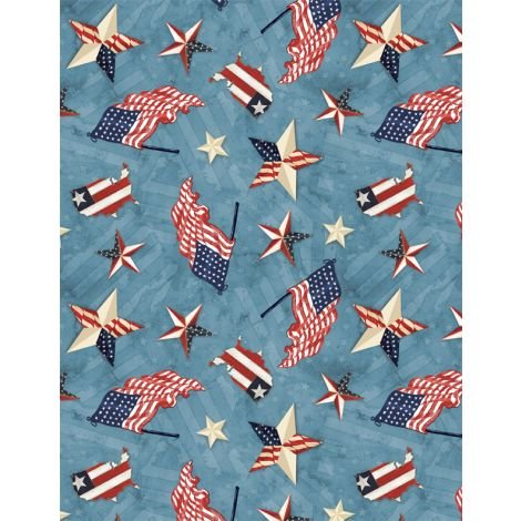 1031 84430 431 American Valor Blue with Flags